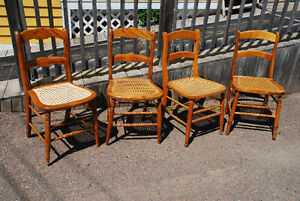 Solid Wood Caned Chairs
