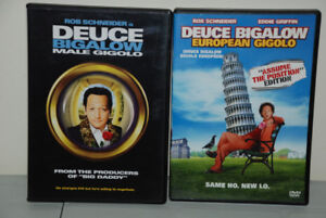 2 x DVD MOVIE - DEUCE BIGALOW MALE GIGOLO - Rob Schneider