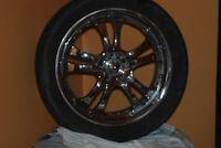 4 mags american raicing 20 po avec pneu wanli demande 550.00