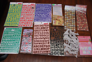 Scrapbook Stickers - Letters