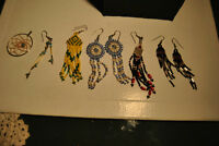 Northwest Coast Native Collection of Old Handmade Earrings