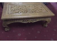 Hand carved Burmese wooden table