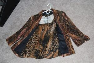 Nue Va Lined Jacket and matching top size 12