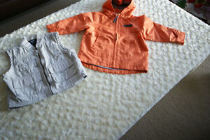 Boys Toddler Orange Baby Gap Jacket & Beige Osh Kosh Vest Size 2