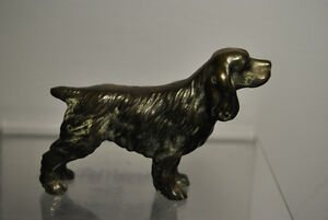 VINTAGE TROPHY CRAFT BRONZE DOG FIGURINE