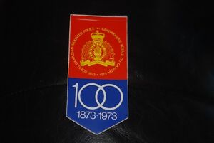 RCMP Police 100 Years 1873-1973 Sticker Decal Unused