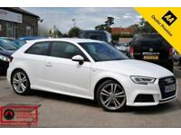 2016 (66) AUDI A3 1.4 TFSI S LINE 3 DOOR PETROL MANUAL 150 BHP WHITE