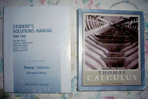 Thomas' Calculus 11th Edition (soft cover) and manual