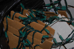 Strands of clear indoor Christmas Lights - 100 on each
