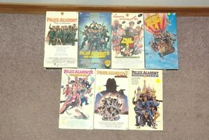 Set of 7 Police Academy VHS tapes Moose Jaw Regina Area image 1