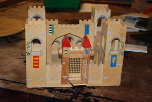 Wooden play castle
