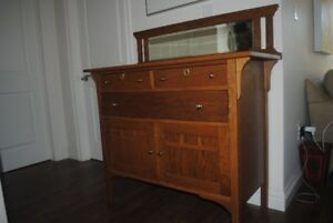 antique buffet, antique organizer both with lock and key