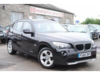 2010 (60) BMW X1 2.0 SDRIVE SE Black 5 Door 4x4 SUV