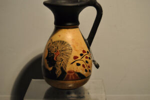 VINTAGE GREECE ANIMALS ART POTTERY AOHNA