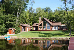 Waterfront home or executive cottage for sale on Shadow Lake