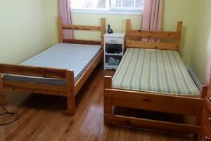 Twin Beds - Solid Pine