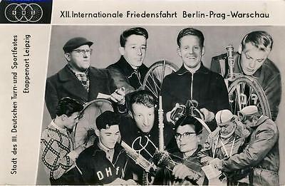 Ansichtskarte Radrennen Friedensfahrt 1959 Etappenort Leipzig DDR 1959