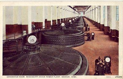 Generator Room Mississippi Power Plant Keokuk  Ia