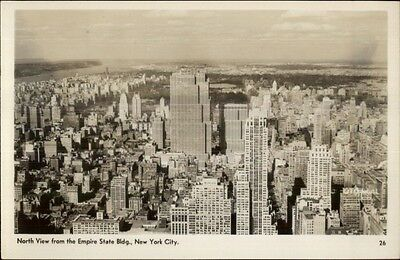 New York City North View From Empire State Bldg Real Photo Postcard