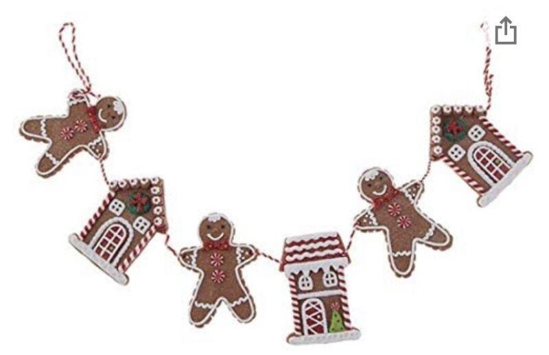 $36 Raz imports gingerbread garland C10