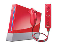 RED NINTENDO WII CONSOLE