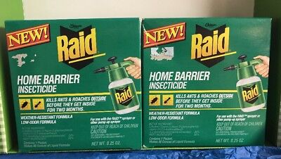 (2 boxes RAID Ant and Roach Insecticide Spray MIX packet REFILL Use with Sprayer)