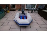 INFLATABLE DINGHY AND OUTBOARD MOTOR DINGY TENDER RIB BOAT