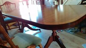 Regency dining table,Yew wood,length 160-210CM,width 95cm,extendable,castor, no chair