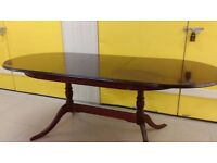 Regency dining table,mahogany,155-200CM,extendable,very good surface,suitable for office,no chairs