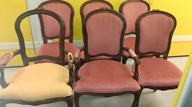6 dining chairs,Mahogany,carved,balloon back,stable,2 carvers,beautiful,no table