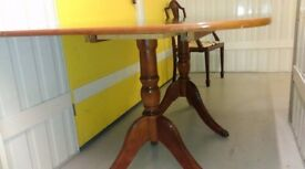 Regency dining table,Mahogany like,length 160cm,width 100cm, suitable for office use