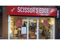Scessor`s Edge looking for experience barber, hairdresser for laides and manicure pedicure
