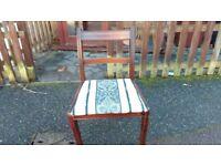 1 dining chairs,mahogany,Regency, leg has a little broken,good for sanding skill practice