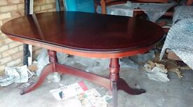 Regency dining table,mahogany,145-190CM,extendable,good surface,also suitable for office use