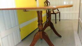 Regency dining table,Mahogany like,length 160cm,width 100cm,office use