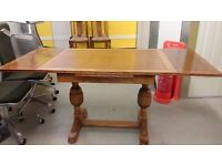 Antique dining table, solid oak, carved,extendable, 100 cm to 160cm, good condition,no chairs