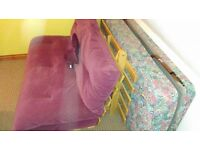 Double Futon - Good Condition Only £20 (Also single fold up bed - FREE)