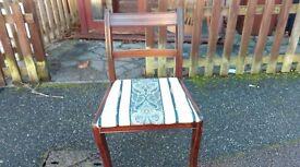 1 dining chairs,mahogany,Regency, leg has a little broken