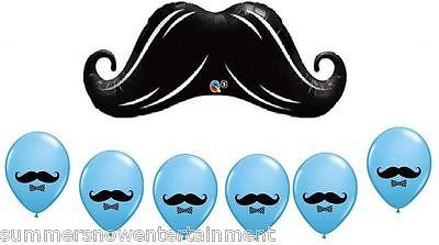 Latex Balloon 7pc Set w/ GIANT Mustache Balloon (Mustache Bash)