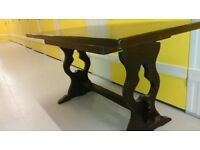Solid oak dining table, length 145cm, width 76.5 cm,carved, good surface, no chair
