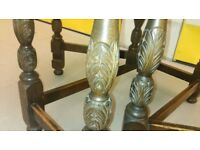 8 carved legs dining table,solid oak, 150cm, no chair