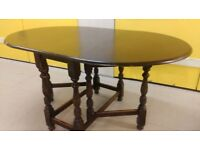 8 carved legs dining table, solid oak, 150cm