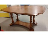 Carved dining table,famous brand: Stag,150-195CM,carved,extendable,Yew wood, no chair