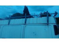 Full length van roof rack Gutter fixing Transit etc