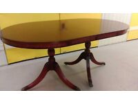 Regency dining table, mahogany, 160-210CM, extendable, castor, very good condition, no chair