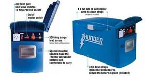 THUNDER WEEKENDER BATTERY BOX inverter 12v 10A 240V BATTERY AGM D Wangara Wanneroo Area Preview