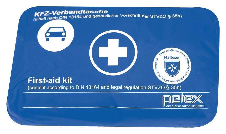 Auto Verbandskasten Verbandstasche KFZ Fahrzeug Verbandtasche KFZ DIN 13164 BLAU