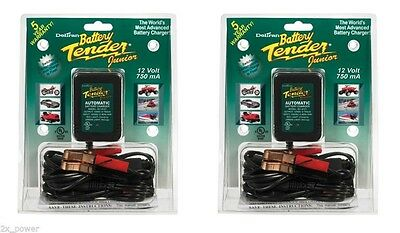 2 PACK - Deltran Battery Tender Jr. 12V Maintainer / Charger Tender Jr