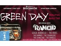 2 tickets to Green Day at Hyde Park July 1