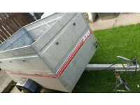 CADDY TRAILER WITH HIGH SIDES WHICH ARE REMOVABLE. QUALITY TRAILER NOT CHEAP & GALVANISED STEEL BODY